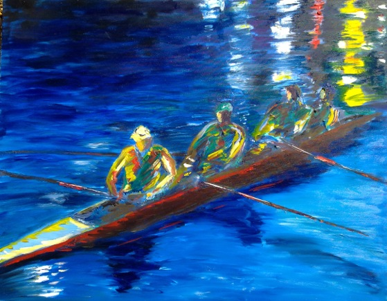 Garth Bayley - Rowers at Dusk