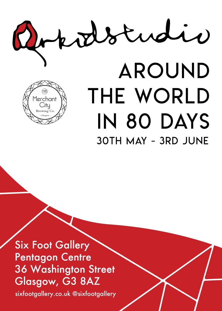 Orkidstudio around the world poster with Merchant City logo (3)